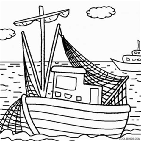 Printable Boat Coloring Pages For Kids